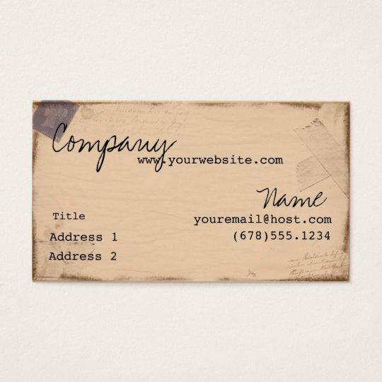 Vintage Passport Business Card