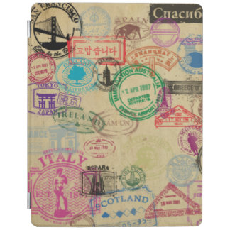 Vintage Passport Stamps iPad 2/3/4 Smart Cover iPad Cover
