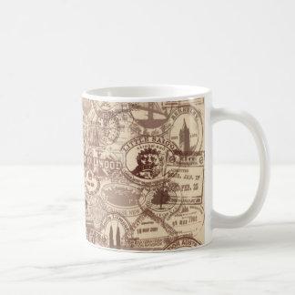 Vintage Passport Stamps Mug