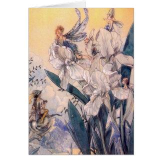 Vintage - Pastel Blue Fairies, Card
