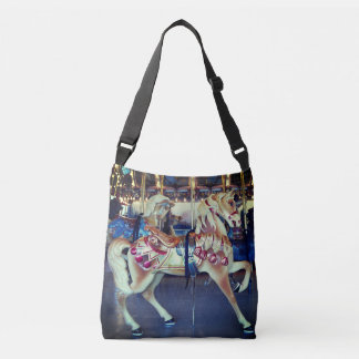 Vintage Pastel Merry Go Round Carousel Photo Crossbody Bag