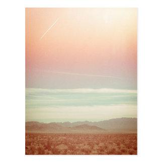 Vintage Pastel Ocean Beach Sunset card