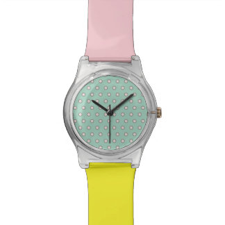 Vintage Pastel Polka Dots Watch