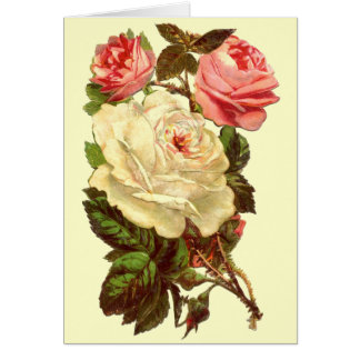 Vintage Pastel Roses Mother's Day Greeting Card
