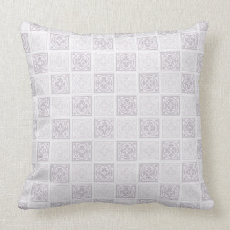 Vintage pastels. Geometric tile design Cushion