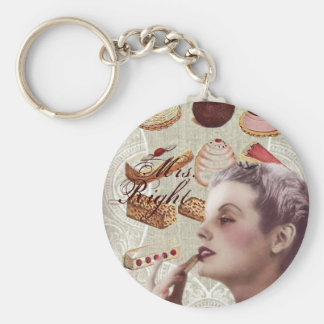 vintage pastry bridal shower tea party basic round button key ring
