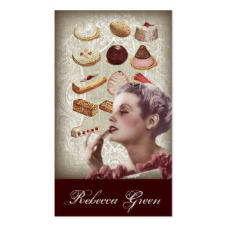 vintage pastry bridal shower tea party pack of standard business cards