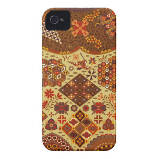 Vintage Patchwork Floral - In Autumn Colors iPhone 4 Case-Mate Cases