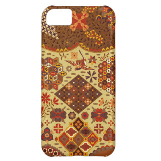 Vintage Patchwork Floral - In Autumn Colors iPhone 5C Cases