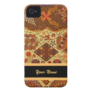 Vintage Patchwork Floral - In Autumn Colors Case-Mate iPhone 4 Cases
