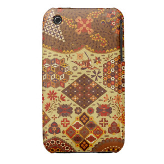 Vintage Patchwork Floral - In Autumn Colors Case-Mate iPhone 3 Cases