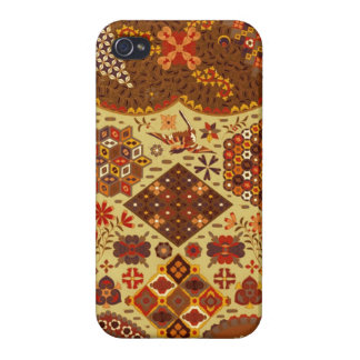 Vintage Patchwork Floral - In Autumn Colors Cover For iPhone 4