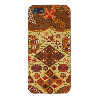 Vintage Patchwork Floral - In Autumn Colors iPhone 5 Covers