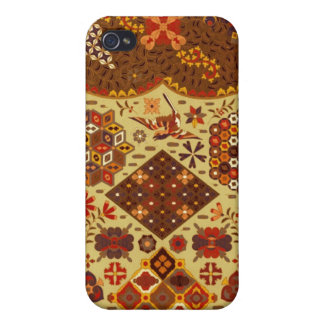 Vintage Patchwork Floral - In Autumn Colors Covers For iPhone 4