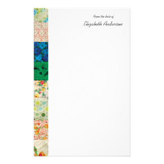 Vintage Patchwork Quilt Border Stationery