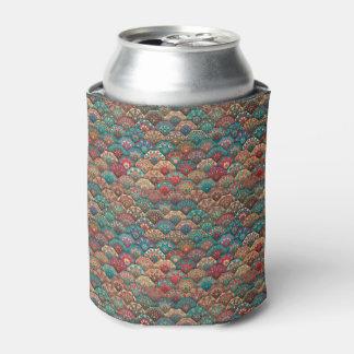 Vintage patchwork with floral mandala elements can cooler