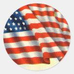 Vintage Patriotic 4th of July Round Sticker