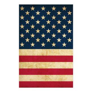 Vintage Patriotic American Flag 14 Cm X 21.5 Cm Flyer