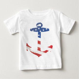Vintage Patriotic American Flag Anchor Nautical US Tees