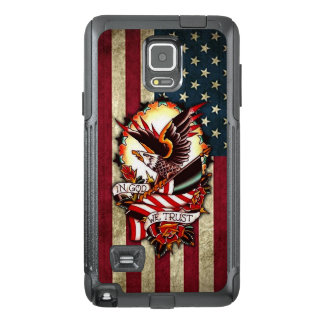 Vintage Patriotic American Flag Bald Eagle Tattoo OtterBox Samsung Note 4 Case