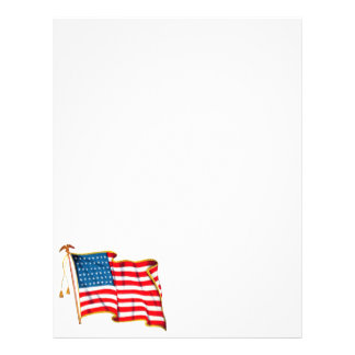 Vintage Patriotic American Flag, Fourth of July 21.5 Cm X 28 Cm Flyer