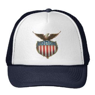 Vintage Patriotic American Flag with Bald Eagle Mesh Hat