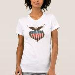 Vintage Patriotic, American Flag with Bald Eagle Tshirts