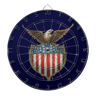 Vintage Patriotic, Bald Eagle with American Flag Dartboard