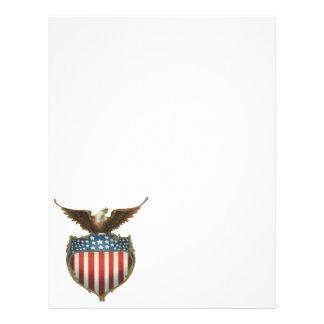 Vintage Patriotic, Bald Eagle with American Flag Flyer