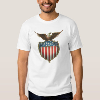 Vintage Patriotic, Bald Eagle with American Flag T Shirt