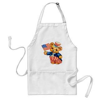 Vintage Patriotic Bear Apron