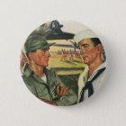 Vintage Patriotic Heroes, Military Personnel 6 Cm Round Badge