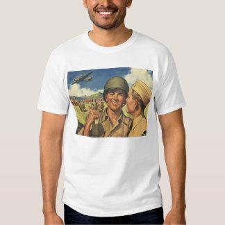 Vintage Patriotic Heroes, Military Personnel Plane T Shirts