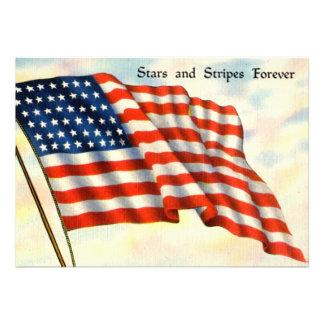 Vintage Patriotic Invitations