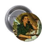 Vintage Patriotic, Medical Nurse on Phone Button