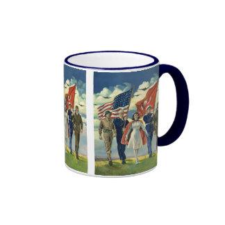 Vintage Patriotic, Military Personnel Coffee Mugs