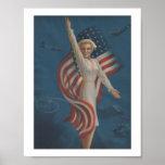 Vintage Patriotic Nurse Poster