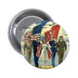 Vintage Patriotic, Proud Military Personnel Heros 6 Cm Round Badge