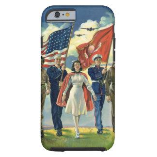 Vintage Patriotic, Proud Military Personnel Heros Tough iPhone 6 Case