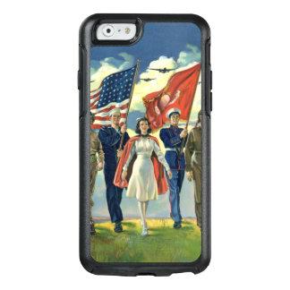 Vintage Patriotic, Proud Military Personnel Heros OtterBox iPhone 6/6s Case