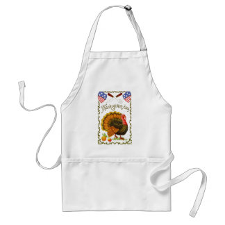 Vintage, Patriotic Thanksgiving Apron