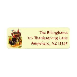 Vintage Patriotic Thanksgiving Turkeys Return Address Label