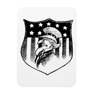 Vintage Patriotic Uncle Sam and American Flag Vinyl Magnets