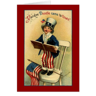 Vintage Patriotic Yankee Doodle Card