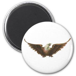 Vintage Patriotism American Bald Eagle Bird Flying Refrigerator Magnet