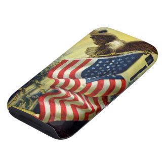 Vintage Patriotism, Patriotic Eagle American Flag Tough iPhone 3 Case