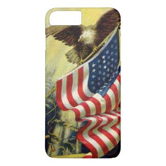 Vintage Patriotism, Patriotic Eagle American Flag iPhone 8 Plus/7 Plus Case