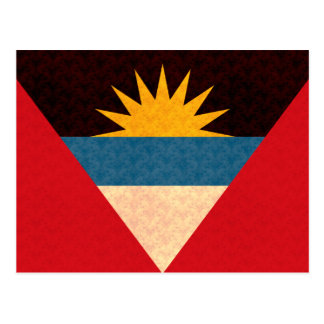 Vintage Pattern Antiguan Flag Postcard