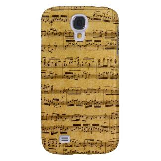 Vintage Pattern Antique Sheet Music Case Galaxy S4 Case
