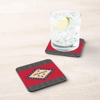 Vintage Pattern Arkansan Flag Beverage Coasters
